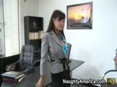 Lisa Ann gets a fuck on her office