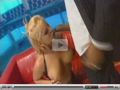 busty blond milf on huge black cock