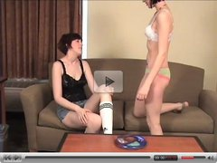 Two girls strips down and playing games