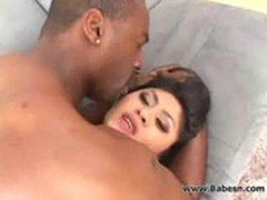 Busty Asian bitch shagged by big black cock