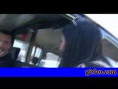 amateur blond beautiful woman fucking in the car-1