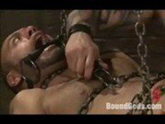 Tied up gay boy and the nasty dom