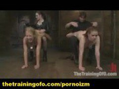 Master and Mistress Pervert BDSM Training of Slaves Lilla Katt and Nicki Blue