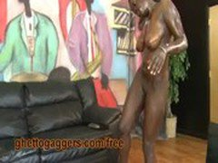Black Ho Sucks White Dick With A Mouthful Of Chocolate