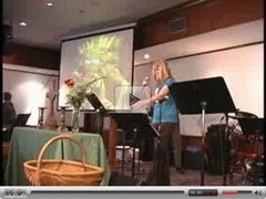 Megan singing in church