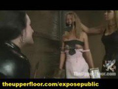 Group BDSM Training of Slaves at Pervert Bizarre Orgy Live