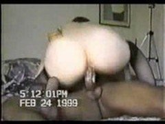 White MILF getting drilled and facial by Black Cock