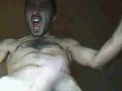 Hot &amp_ Crazy Turkish man goes wild on cam :)