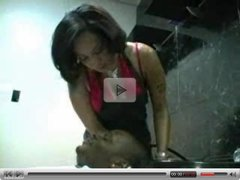 Ebony Hairdresser Blows Her Customer...F70