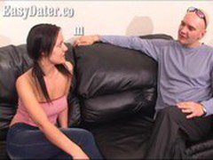 EasyDater - Brunette Housewife affair by using a blind dating service