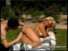 Blond ebony girl gets her butthole nailed