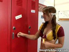 Jaclyn Case at the locker room