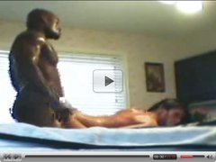 Teen white girl with black lover in her bedroom - Interracial