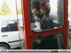 jerking him off in a phone booth