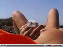 Beach Masturbation giant tits - Amateur sex video -