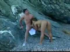 jens North fucks busty Asian on Rock Island - Erotic sex video