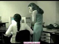 AllYourPix.com - Cute Young Latin Teens Scared Of Getting Caught In Office
