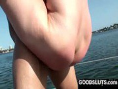 bubbly ass riding dick on a luxury boat in the outdoor sunshine
