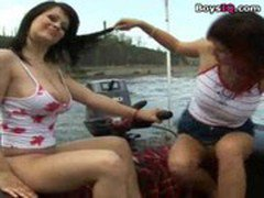 2 busty polish girls on the river - BoysIQ.com sex video