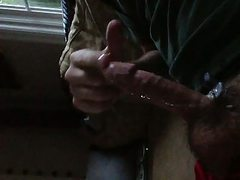 Squeezing the cum from my balls