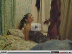 Brunette white girl with black guy - Amateur Interracial Homemade