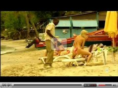 Young blonde white girl with black lover - Interracial Vacation