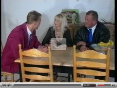 Sandra Foxx-Mature Busty Blonde with 2 Men (Gr-2)
