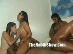 Brazilian 3-Some Orgy Party freakfest