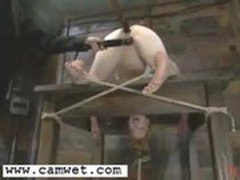 Chick Gets Tied And Suspended In The Air