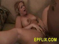 Chubby mature Wife gets her first big black cock in her tigh
