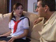 Japanese Girl getting seduced by Older man