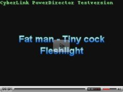 Fat man - Tiny cock: Fleshlight