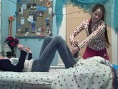 Girls Fighting in Bed