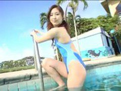 Japanese Girl in Swimming Pool