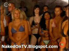 Aktmodell - naked Hungarian casting on TV stripping 4