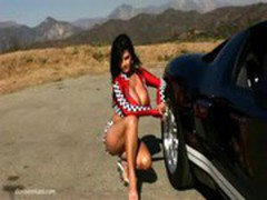 Denise Milani HOT CAR