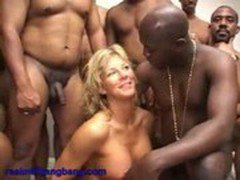 Blonde MILF Jean gets banged by black cocks - real milf gangbang 4  -CockTaiL-