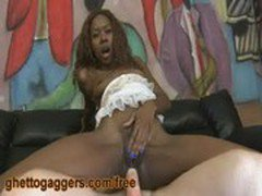 Black Ho Gets White DIck In Her Ass