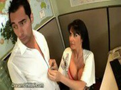 Sexy Secretary Seduces Boss in The Office
