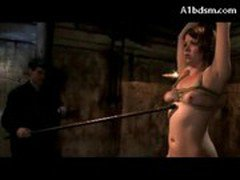Girl Sitting On Dildo Breast Bondage Paddled Flushed With Water By 2 Guys In The Dungeon