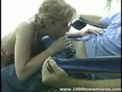 amateur Milf blowjob outdoors