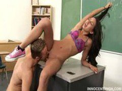 horny teen Amia getting her ass cummed on by her professor