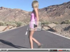Eroberlin presents Chanel in her Volvo 4WD Tenerife Island