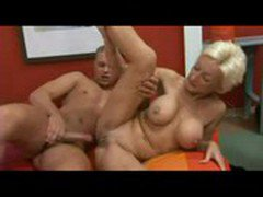 Mature blonde fucks the guest   Pornhub.com