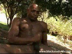 black muscle stud cums