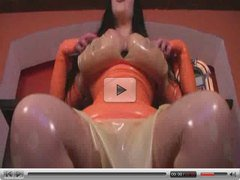 F60 Big Boobs BLOWJOB IN LATEX