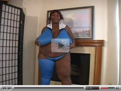 Mz. Diva In Blue. Fat Woman with Giant Tits Fuck