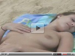 andie valentino naked on beach 3