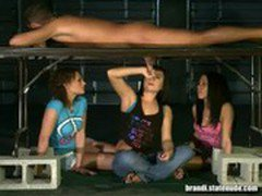 CFNM Teen Girls Play with Dangling Cock