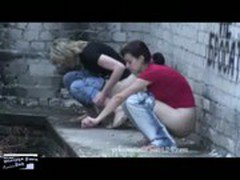 drunk college babes pissing